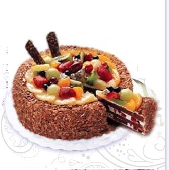 send Chocolate fruit cake to china