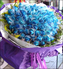 send 99 blue roses to china