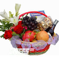 send Fruit basket 6 to china