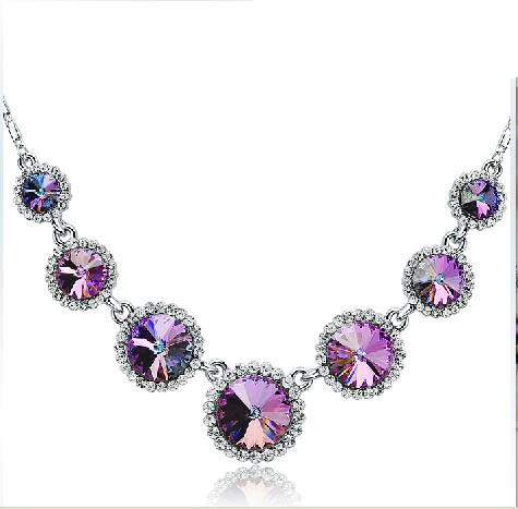 send crystal Necklace to china