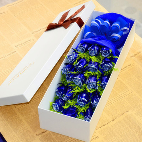 send 19 blue roses to china