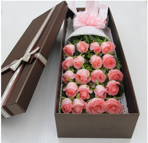 send 20 pink roses to china